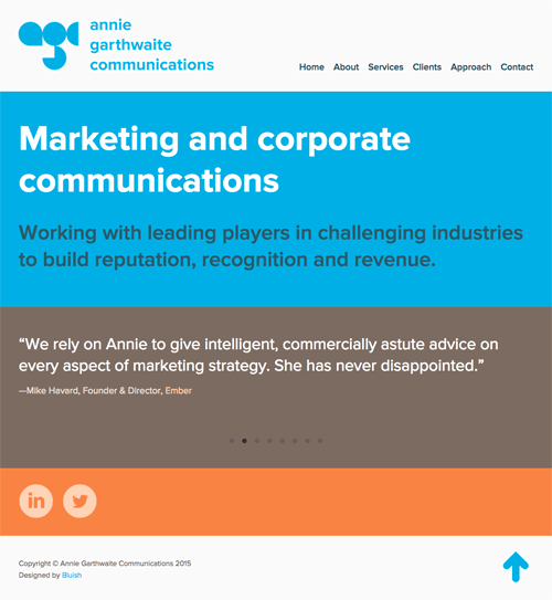 Annie Garthwaite Communications website