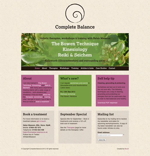 Complete Balance website