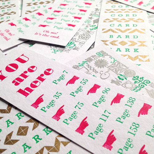 Hay Festival 2016 letterpress bookmarks